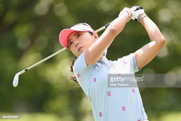 ChaeYoung Yoon of South Korea hits her tee shot on the 4th hole during the third round of the 50th LPGA Championship Konica Minolta Cup 2017 at the...