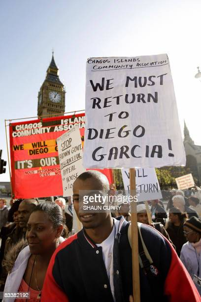 Chagos Islanders leave London's Houses of Parliament on October 22 2008 The British government on Wednesday won its appeal to Britain's highest court...