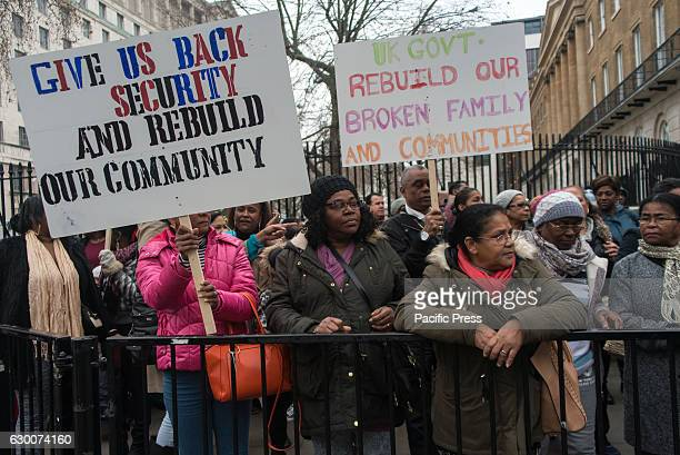 Chagossian demonstration against the UK Government about the respect of human rights The depopulation of Chagossians from the Chagos Archipelago was...