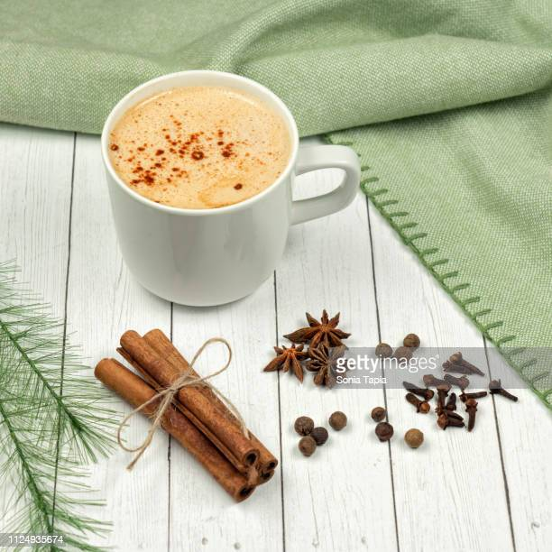 chai latte - chai stock photos and pictures