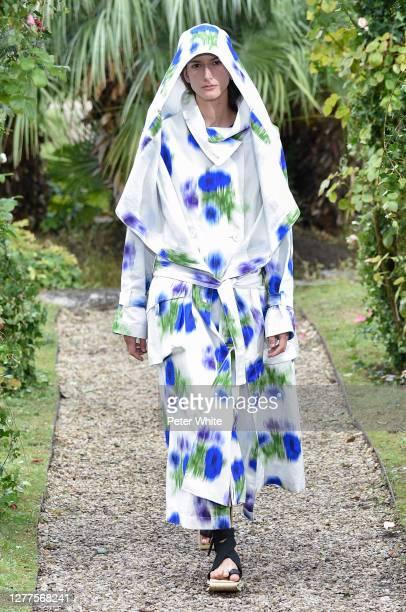 Chai Maximus walks the runway during the Kenzo Womenswear Spring/Summer 2021 show as part of Paris Fashion Week on September 30, 2020 in Paris,...