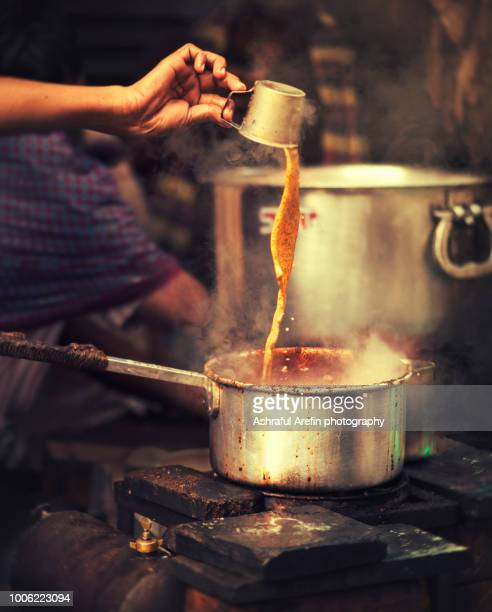 chai tea in india - chai stock photos and pictures