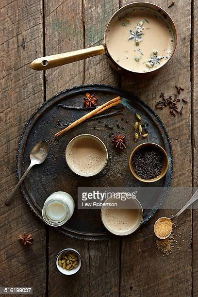 chai tea - chai stock photos and pictures