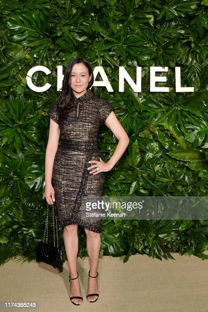 Chai Vasarhelyi,wearing CHANEL attends Chanel Dinner Celebrating Gabrielle Chanel Essence With Margot Robbie on September 12, 2019 in Los Angeles,...