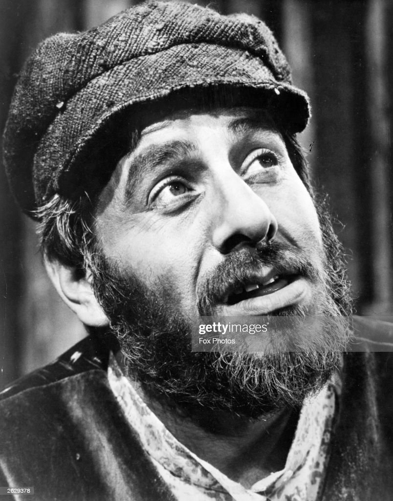 Chaim Topol, the Isaeli actor as Tevya in the stage version of 'Fiddler on The Roof'. It has just been announced that he has been awarded the same part in the film version.