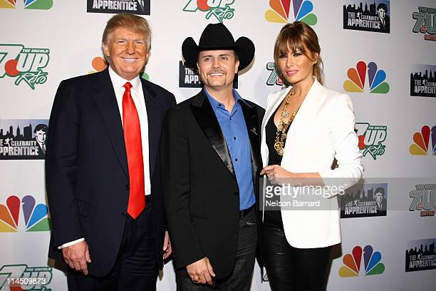 Chaiman and CEO of the Trump organization Donald Trump winner of The Celebrity Apprentice and musician John Rich and Melania Trump attend The...