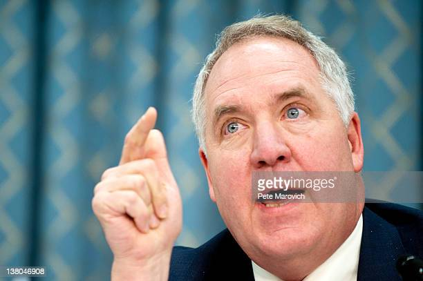 Chaiman of the House Energy and Commerce Committee Rep John Shimkus questions Former Rep Lee Hamilton and retired Air Force Lt Gen Brent Scowcroft...