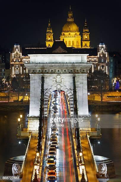 chain bridge and - ponte széchenyi lánchíd - fotografias e filmes do acervo