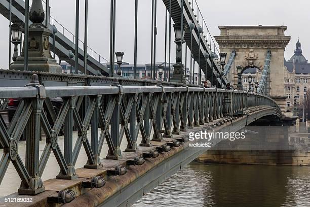 chain bridge - ponte széchenyi lánchíd - fotografias e filmes do acervo
