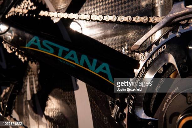 Chain / Crankset Full Speed Ahead Power2max / Chainstays / Argon 18 Bike / Astana Pro Team of Kazakhstan / Detail view / on December 18, 2018 in...