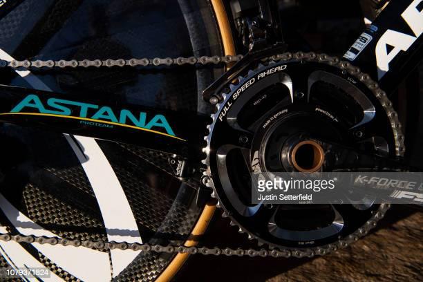 Chain / Crankset Full Speed Ahead Power2max / Front derailleur Shimano Durance / Chainstays / Argon 18 Bike / Astana Pro Team of Kazakhstan / Detail...
