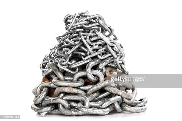 Chain, folded in a heap