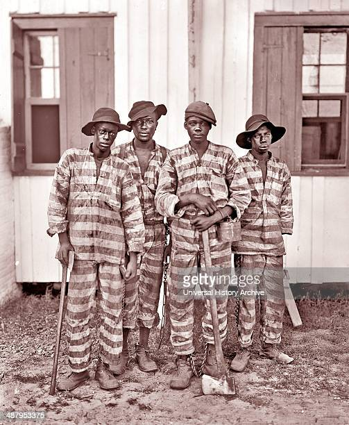 A chain gang from the southern states of the USA The chain gang comprised a group of prisoners chained together to perform menial or physically...