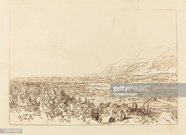 Chain of Alps from Grenoble to Chamberi, published 1812. Artist JMW Turner.