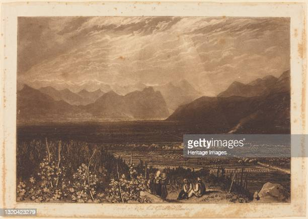 Chain of Alps from Grenoble to Chamberi, published 1812. Artist JMW Turner, William Say.