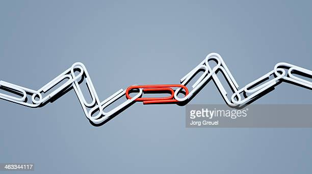 A chain of paper clips