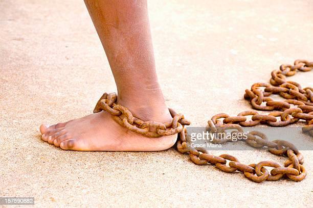Chained schmutzig Bein