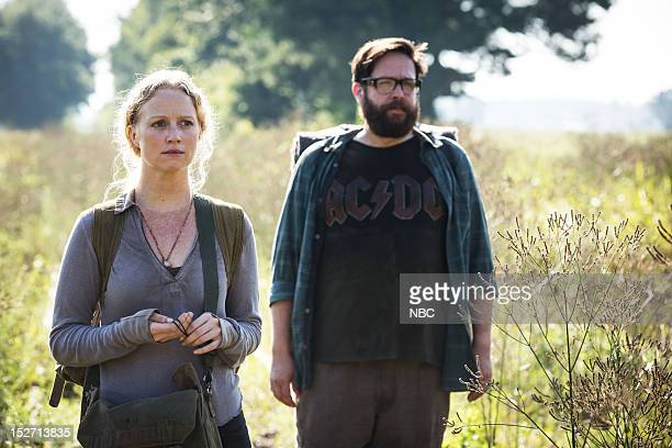 REVOLUTION 'Chained Heat' Episode 102 Pictured Anna Lise Phillips as Maggie Zak Orth as Aaron