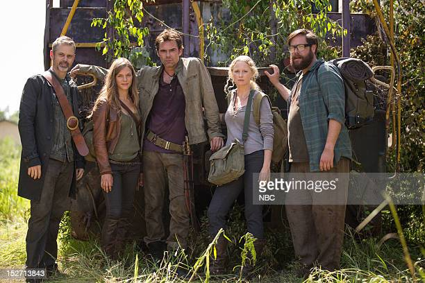 REVOLUTION 'Chained Heat' Episode 102 Pictured C Thomas Howell as Jacob Tracy Spiridakos as Charlie Matheson Billy Burke as Miles Matheson Anna Lise...