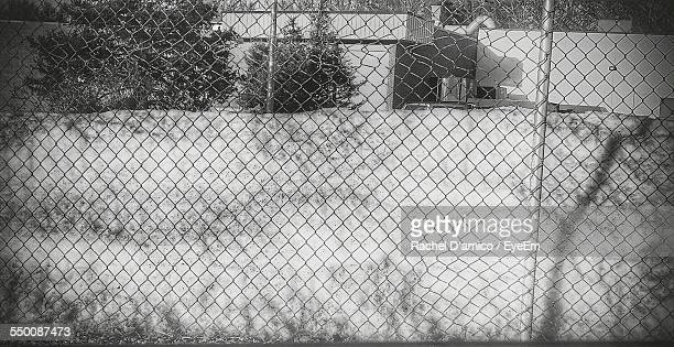 Chainlink Fence On Playground
