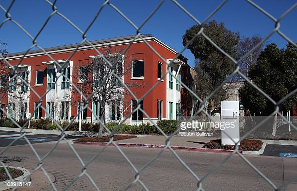 A chainlink fence surrounds the former Sun Microsystems campus on February 8 2011 in Menlo Park California Facebook announced today that it will move...