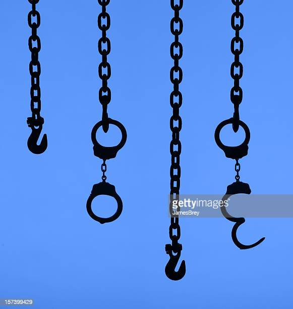 chains of bondage - torture stock pictures, royalty-free photos & images