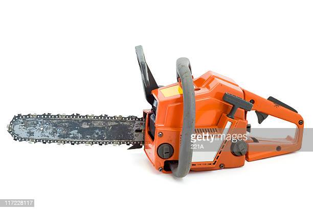 Chainsaw on white