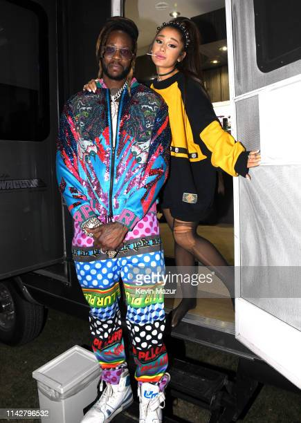 Chainz and Ariana Grande attend the 2019 Coachella Valley Music And Arts Festival on April 14 2019 in Indio California
