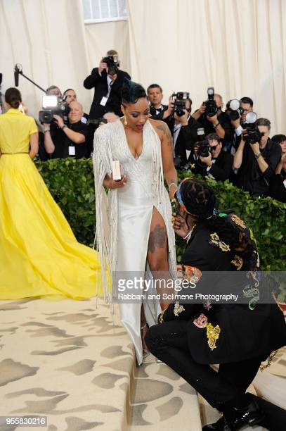 Chainz and Kesha Ward attends Heavenly Bodies Fashion The Catholic Imagination Costume Institute Gala at the Metropolitan Museum of Art in New York...