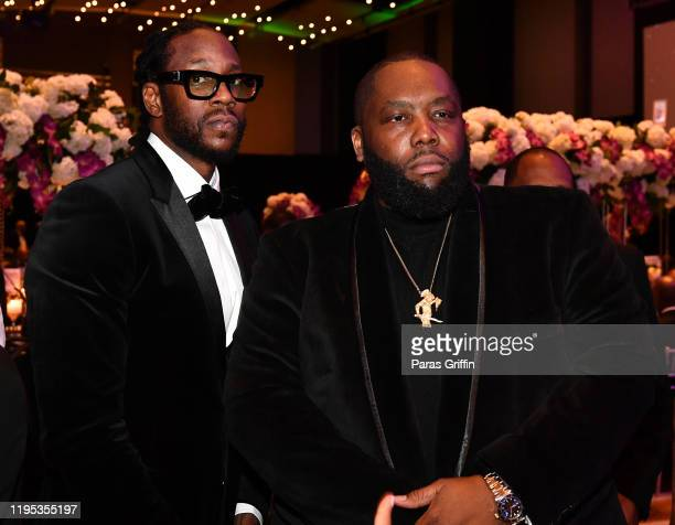 Chainz and Killer Mike attend 36th Annual Atlanta UNCF Mayor's Masked Ball at Atlanta Marriott Marquis on December 21 2019 in Atlanta Georgia