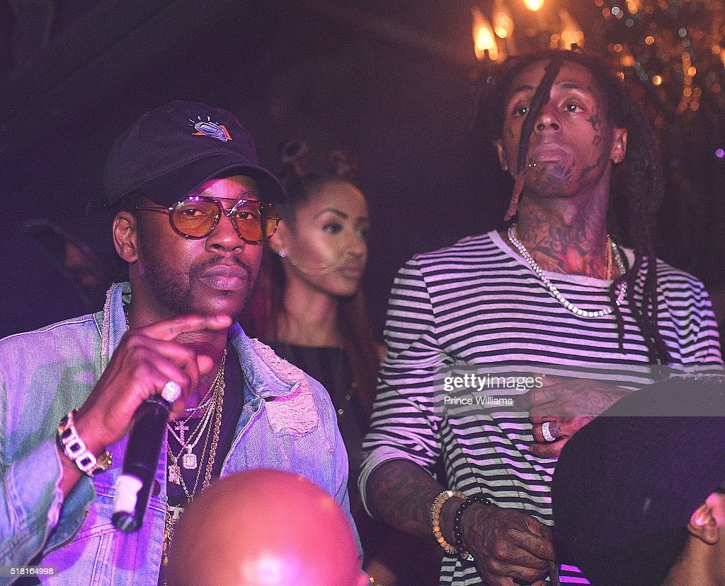 2 Chainz and Lil Wayne attend the Collegrove Album release