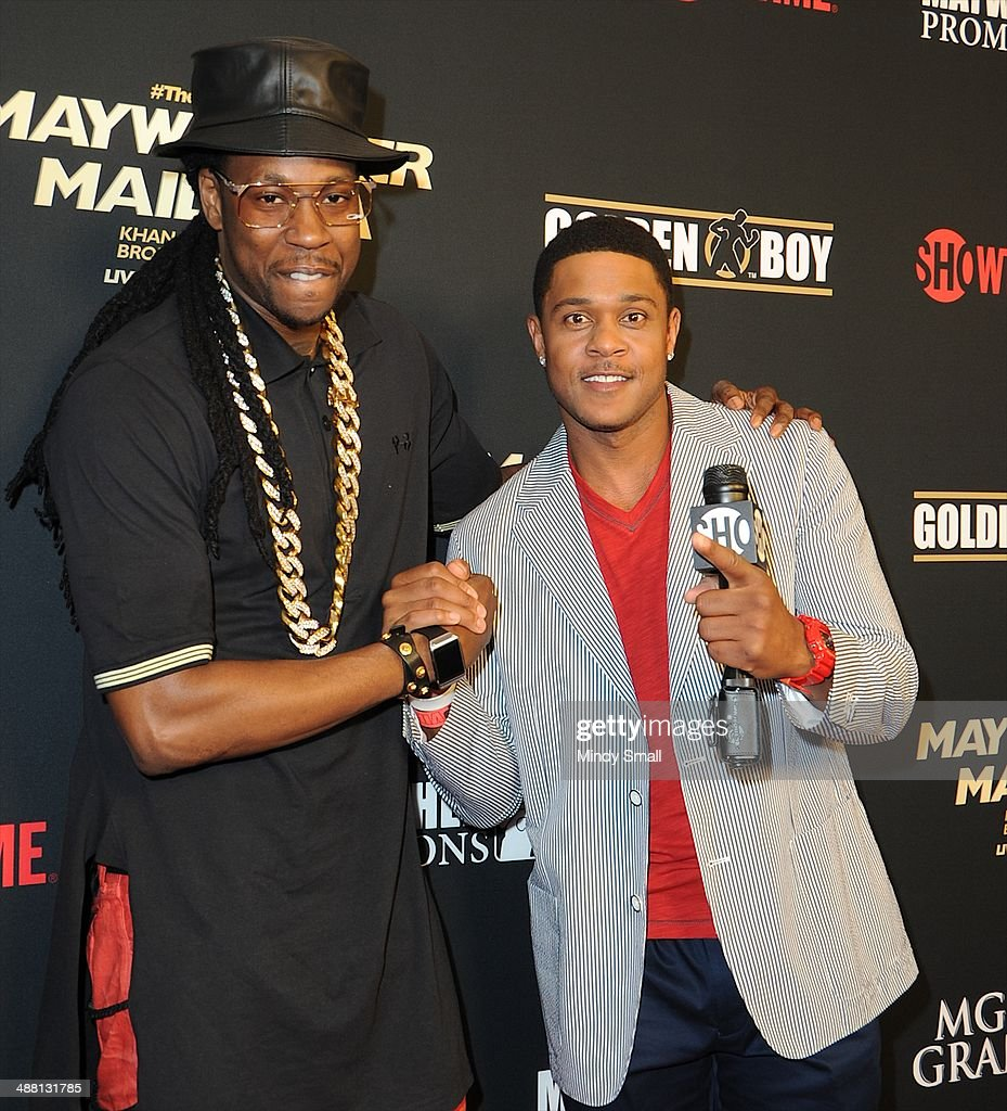 2 Chainz and Pooch Hall attend the Mayweather Vs. Maidana Pre-Fight Party Presented By Showtime at MGM Garden Arena on May 3, 2014 in Las Vegas, Nevada.