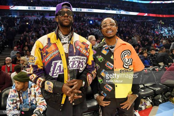 Chainz and Quavo attend the 69th NBA AllStar Game at United Center on February 16 2020 in Chicago Illinois