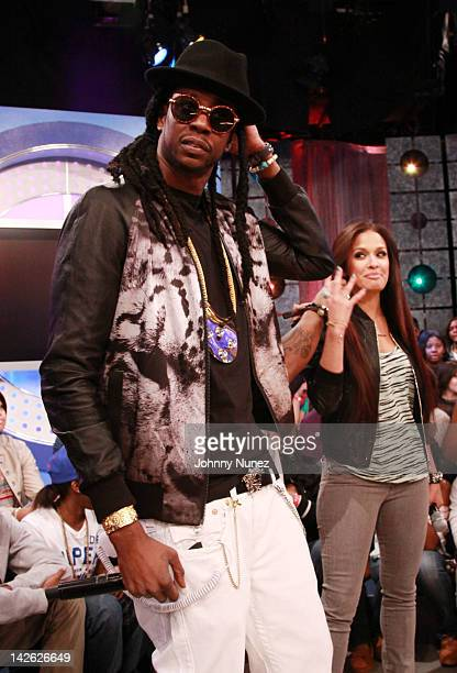 d0413d837f7 2 Chainz and Rocsi Diaz visit BET s 106 Park on April 9 2012 in New York