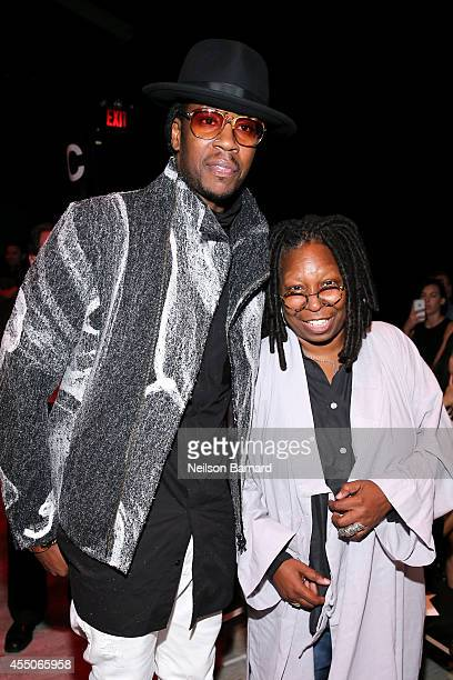 Chainz and Whoopi Goldberg attend the Skingraft fashion show during Mercedes-Benz Fashion Week Spring 2015 at The Pavilion at Lincoln Center on...