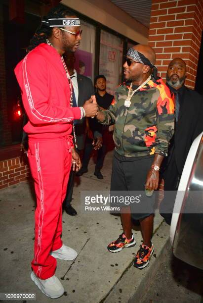 Chainz and Young Jeezy attend The After Party at SL Lounge on August 26 2018 in Atlanta Georgia