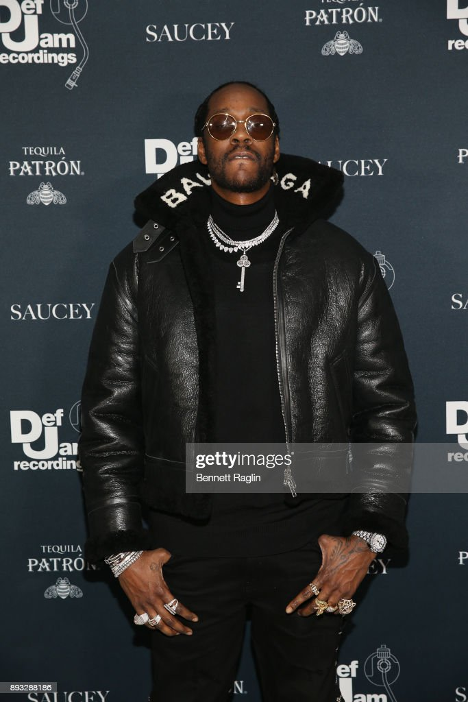 2 Chainz attends as Def Jam Recordings Celebrates the Holidays with Patron at Spring Place on December 14, 2017 in New York City.