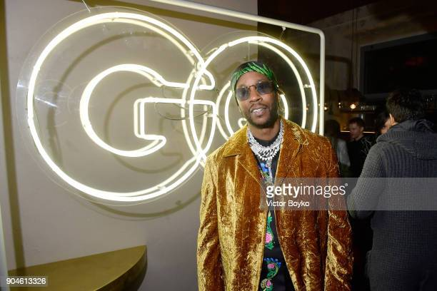 Chainz attends the GQ Milan Cocktail Party during Milan Men's Fashion Week Fall/Winter 2018/19 on January 13 2018 in Milan Italy