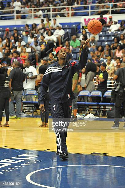Chainz attends the LUDA vs YMCMB celebrity basketball game at Georgia State University Sports Arena on August 31 2014 in Atlanta City