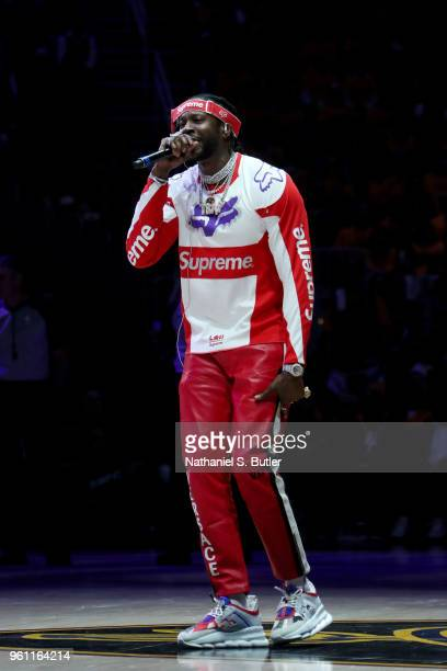 Chainz during the game between the Cleveland Cavaliers and the Boston Celtics during Game Four of the Eastern Conference Finals of the 2018 NBA...