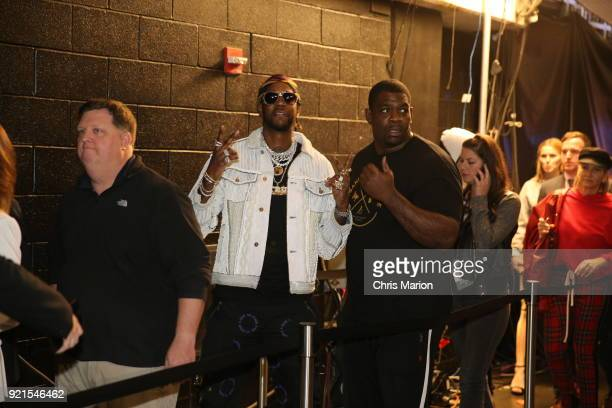 Chainz is seen during the NBA AllStar Game as a part of 2018 NBA AllStar Weekend at STAPLES Center on February 18 2018 in Los Angeles California NOTE...
