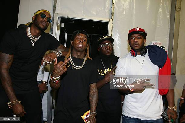 Chainz Lil Wayne Freeyway and Mack Maine attend 2016 Budweiser Made In America Festival Day 1 on September 3 2016 in Philadelphia Pennsylvania