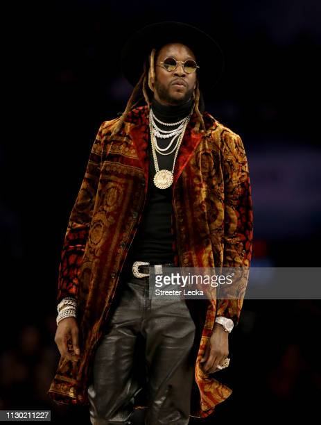Chainz looks on during the ATT Slam Dunk as part of the 2019 NBA AllStar Weekend at Spectrum Center on February 16 2019 in Charlotte North Carolina