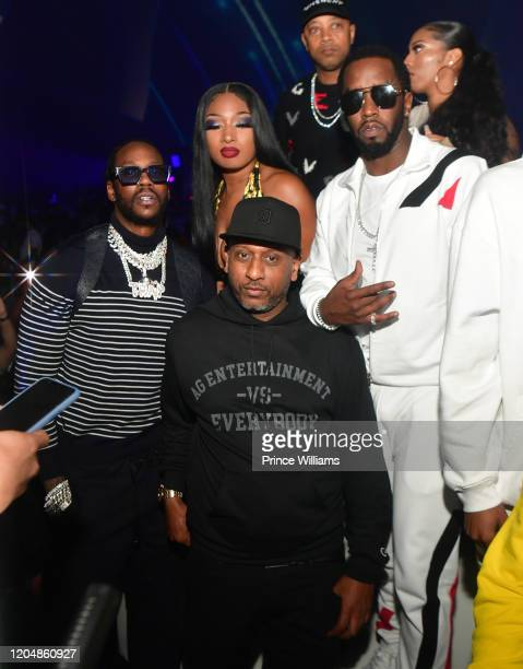 Chainz Megan Thee Stallion Alex Gidewon Special and Sean Combs attend The Big Game Weekend at The Dome Miami on February 1 2020 in Miami Florida
