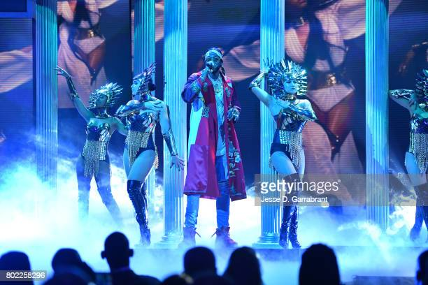 Chainz performs during the 2017 NBA Awards Show on June 26 2017 at Basketball City in New York City NOTE TO USER User expressly acknowledges and...