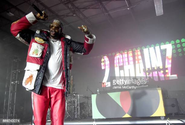 Chainz performs onstage during BACARDI Swizz Beatz and The Dean Collection bring NO COMMISSION back to Miami to celebrate 'Island Might' at Soho...