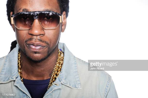 Chainz poses during a portrait session at John Ricard Studio on July 10, 2012 in New York City.