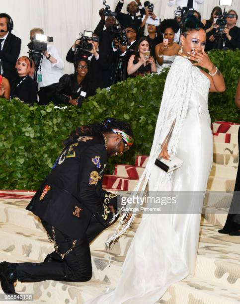 Chainz proposes to Kesha Ward at the Heavenly Bodies Fashion The Catholic Imagination Costume Institute Gala at the Metropolitan Museum of Art on May...