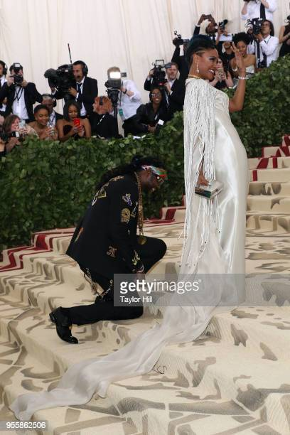 Chainz proposes to Kesha Ward during 'Heavenly Bodies Fashion the Catholic Imagination' the 2018 Costume Institute Benefit at Metropolitan Museum of...