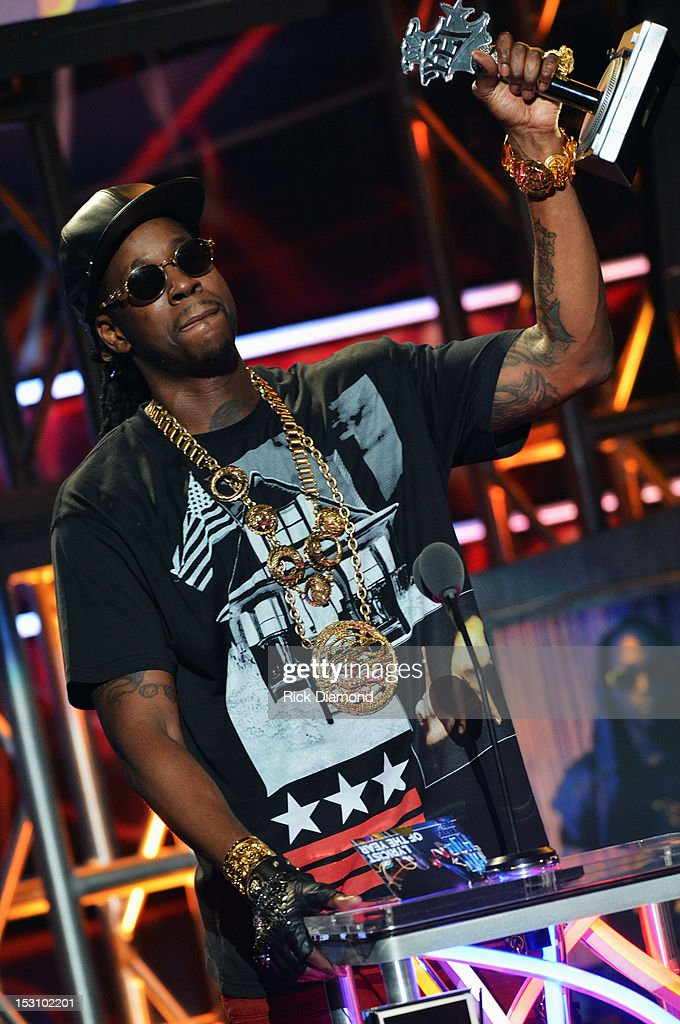 2 Chainz speaks onstage at the 2012 BET Hip Hop Awards at Boisfeuillet Jones Atlanta Civic Center on September 29, 2012 in Atlanta, Georgia.